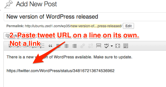 How to Embed a Tweet in a WordPress Post or Page - Mike Little